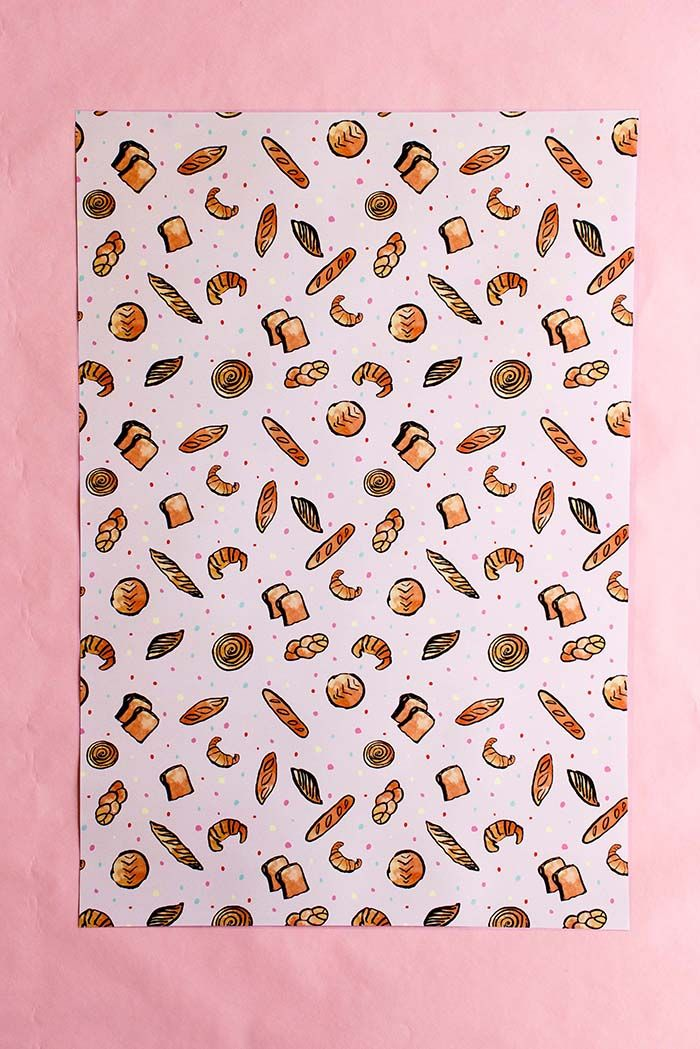 Breads Gift Wrap - 3 Sheets
