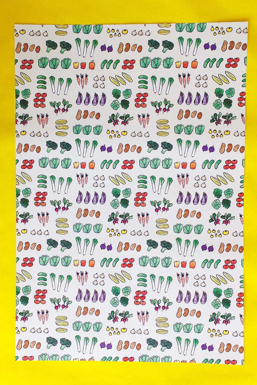 Veggies Gift Wrap- 3 Sheets
