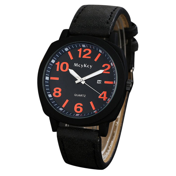 "<p class=""titleMask""> Date Number Quartz Faux Leather Watch - Red</p><span class=""titleMaskBtn""></span>"