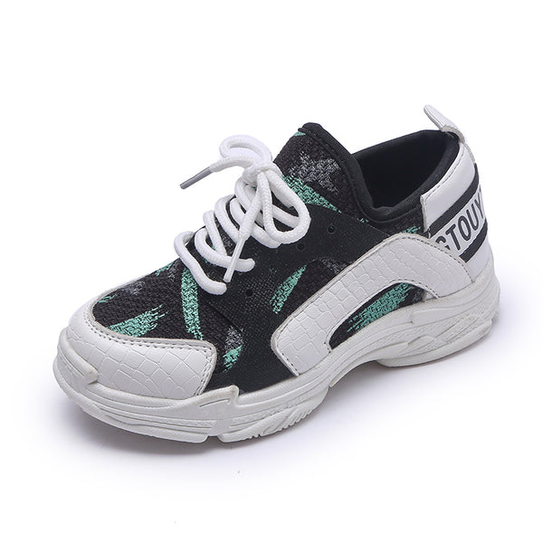 Children Sport Shoes Casual Spring Autumn New Boys Net Cloth Breathable Sneakers Kids Shoes For Girls Lace Up Student Shoes