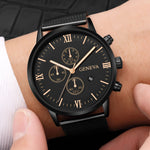 2018 Top Brand Luxury Men's Watch Fashion Stainless Steel Men Military Sport Analog Quartz Wrist Watch With Calend relogios