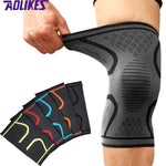 AOLIKES Knee Support Knee Pads Brace Kneepad Gym Weight lifting Knee Wraps Bandage Straps Guard Compression Knee Sleeve Brace