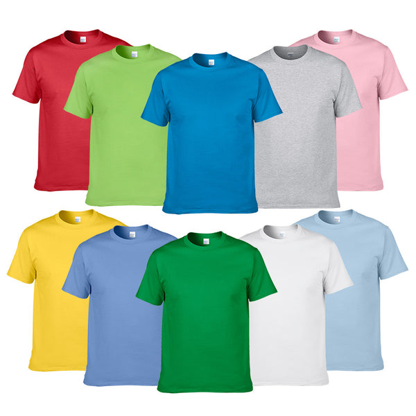Summer Style High Quality 100% Cotton Solid Color T Shirt Men Pure color Tees Brand Short Sleeve t-shirt Male Clothing