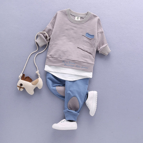 2018 Children Clothing Set Baby's Sets Children's Kids Autumn Boy Outfit Sports Suit Set 1-4T Boys Girls Set Child Suit Clothes