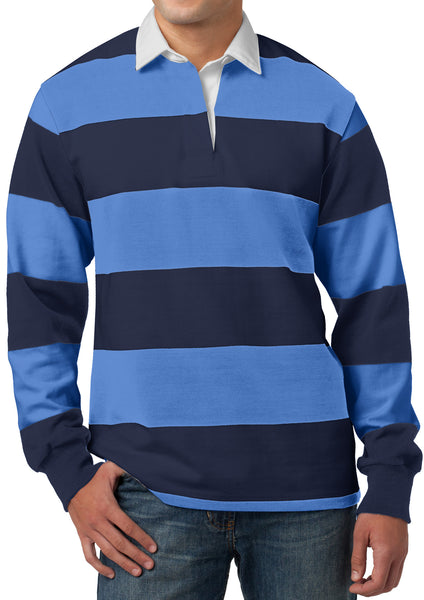 Mens Premium Long Sleeve Rugby Polo Shirt