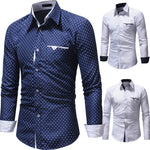 Men Long Sleeve Shirt 2018 Fashion Casual Shirts