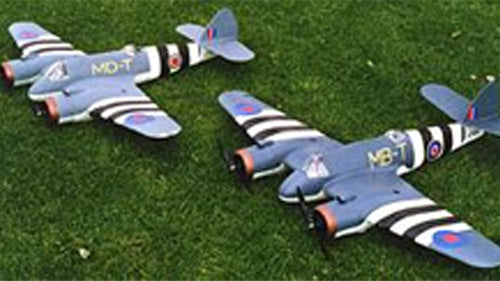 2 beaufighter electric RC scale models