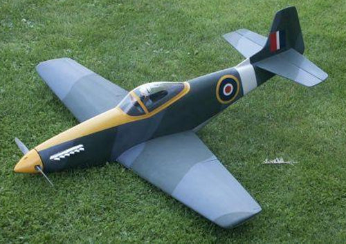 Mustang completed balsa kit
