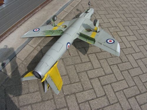 Hawker Hunter Airplane Kit - RC-builder