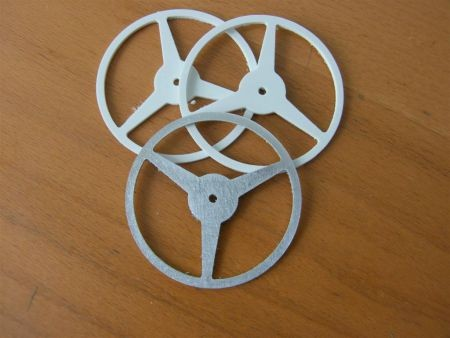 Steering wheel alu 60mm 3-spoke  - RC-builder
