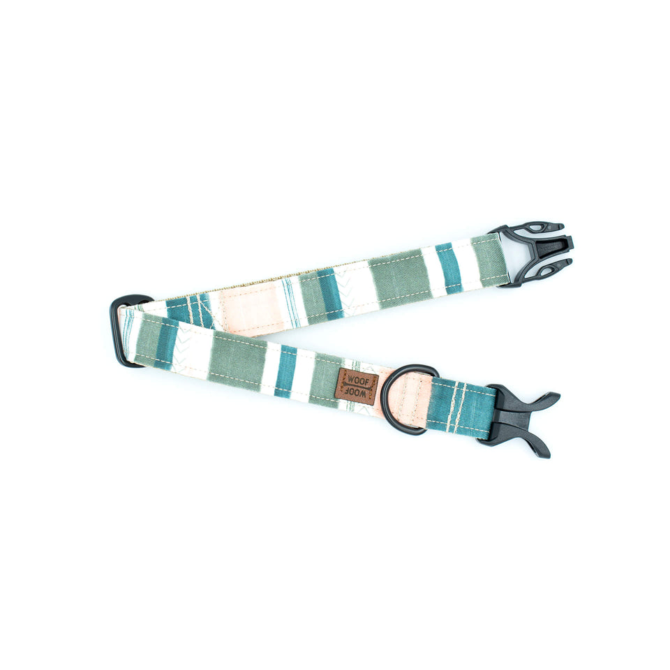 the woof woof jungle stripes dog collar