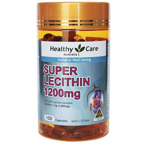 Healthy Care Super Lecithin 1200mg 100 Capsules