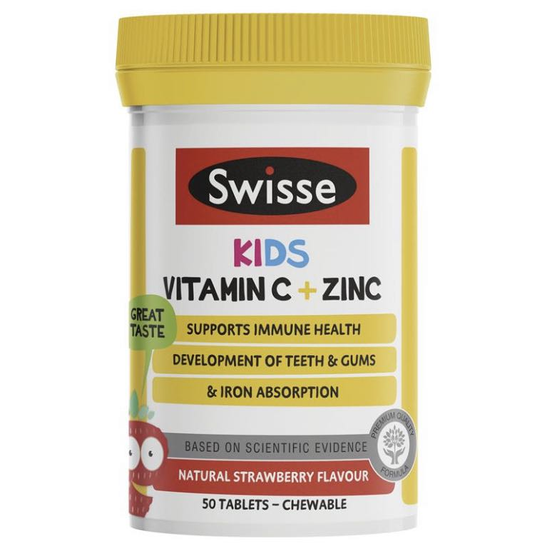 Swisse Kids Vitamin C + Zinc 50 Chewable Tablets