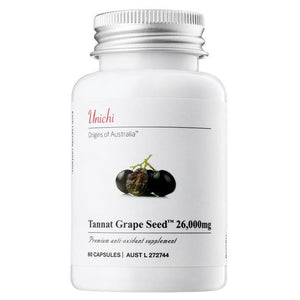 Unichi Tannat Grape Seed 26000mg 60 Capsules