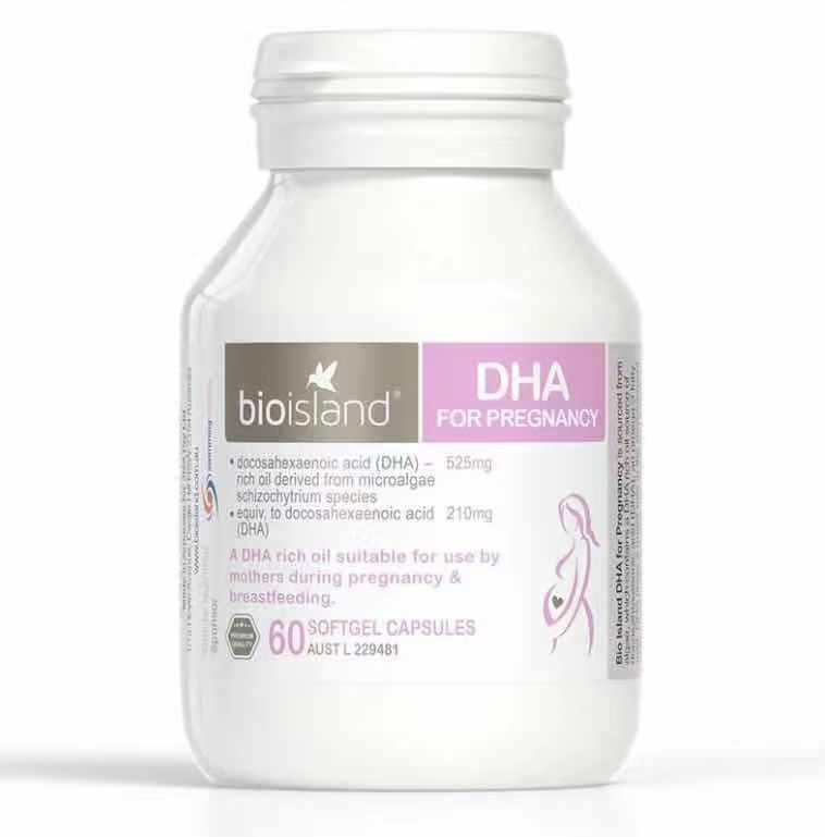 Bio Island DHA for Pregnancy 孕婦專用海藻油DHA 60 Capsules
