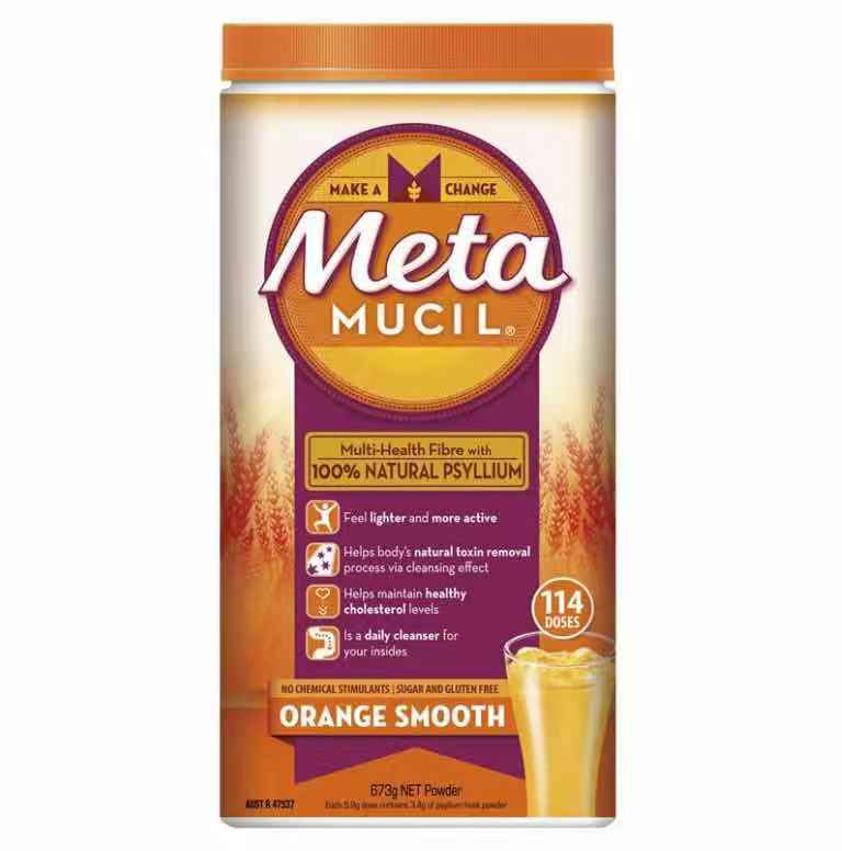 Metamucil Fibre Supplement Smooth Orange 114 Dose 673g