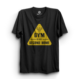 HS- GYM IS MY SECOND HOME (BLACK-YELLOW)