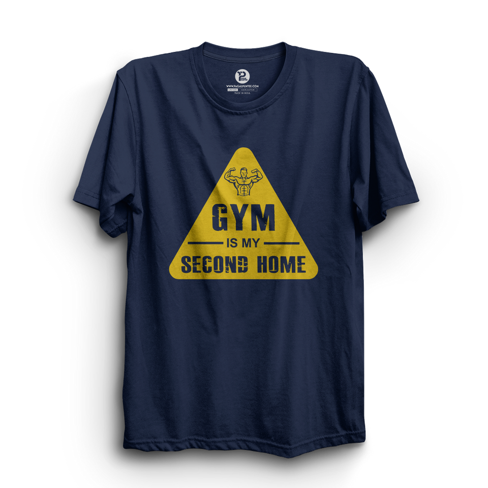 HS- GYM IS MY SECOND HOME (NAVY-YELLOW)