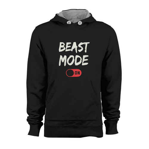 HOODIE - BEAST MODE ON (BLACK)