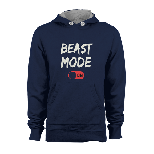 HOODIE - BEAST MODE ON (NAVY)