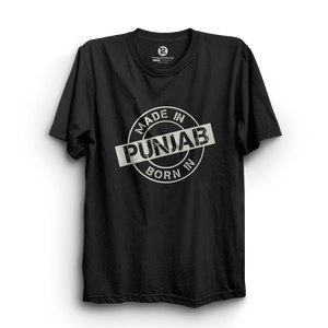 HS- MADE/BORN IN PUNJAB (BLACK-WHITE)