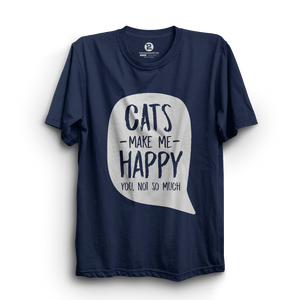 HS- CATS MAKE ME HAPPY (NAVY-WHITE)