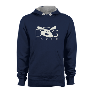 HOODIE - DOG LOVER (NAVY-WHITE)
