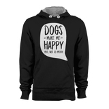 HOODIE - DOGS MAKE ME HAPPY (BLACK-WHITE)