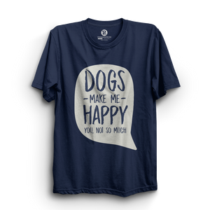 HS- DOGS MAKE ME HAPPY (NAVY-WHITE)