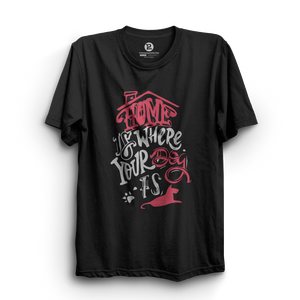 HS- HOME IS WHERE YOUR DOG IS (BLACK)