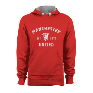 HOODIE - MANCHESTER EST (RED-WHITE)