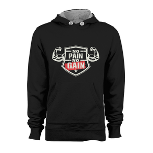HOODIE - NO PAIN NO GAIN (BLACK)