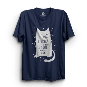 HS- HOME WITHOUT CAT (NAVY-WHITE)
