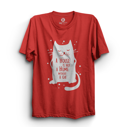 HS- HOME WITHOUT CAT (RED-WHITE)