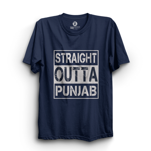 HS- STRAIGHT OUTTA PUNJAB (NAVY-WHITE)