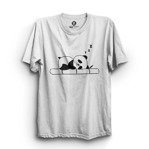HS- SLEEPING PANDA (WHITE-BLACK)