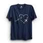 HS- WANDERLUST HEART (NAVY-WHITE)