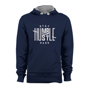 HOODIE - STAY HUMBLE (NAVY-WHITE)