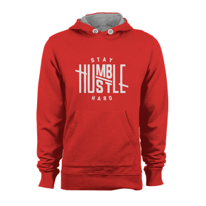 HOODIE - STAY HUMBLE (RED-WHITE)
