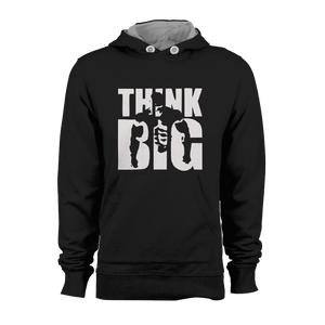 HOODIE - THINK BIG (BLACK-WHITE)