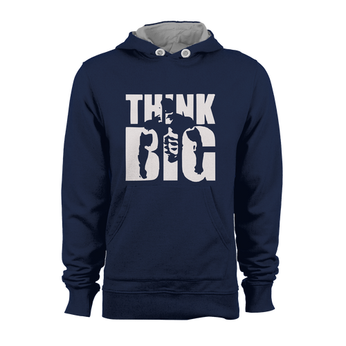 HOODIE - THINK BIG (NAVY-WHITE)