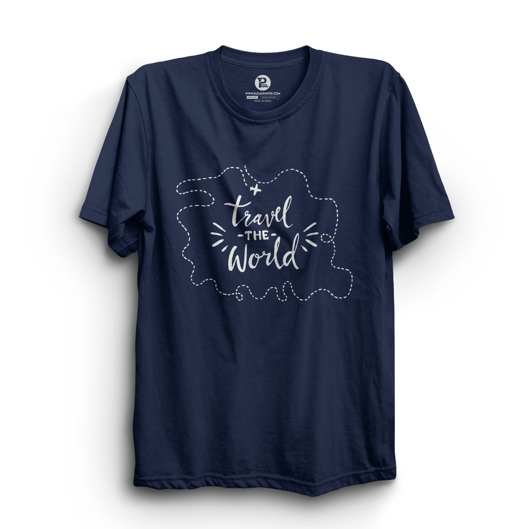 HS- TRAVEL THE WORLD (NAVY-WHITE)