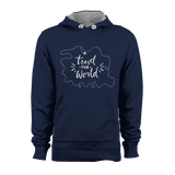 HOODIE - TRAVEL THE WORLD (NAVY-WHITE)