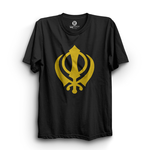 HS- WAHEGURU SYMBOL (BLACK-YELLOW)