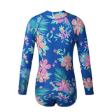 Uonpan Girls Rashguard Swimsuit UV 50+ Long Sleeve One Piece Bathing Suit