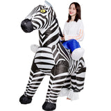 Inflatable Halloween Zebra Costume - Nikkiaz