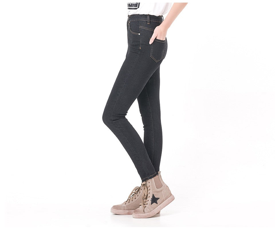 High Waist Stretch Women Jeans - Nikkiaz