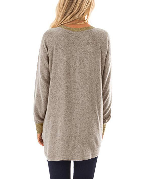 Pocket Sweater Long Sleeve Pullover Sweatshirt - Nikkiaz