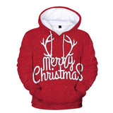 Leisure Merry Christmas Red Color Hoodies