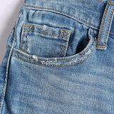 Scratched Ripped Denim Women Jean - Nikkiaz